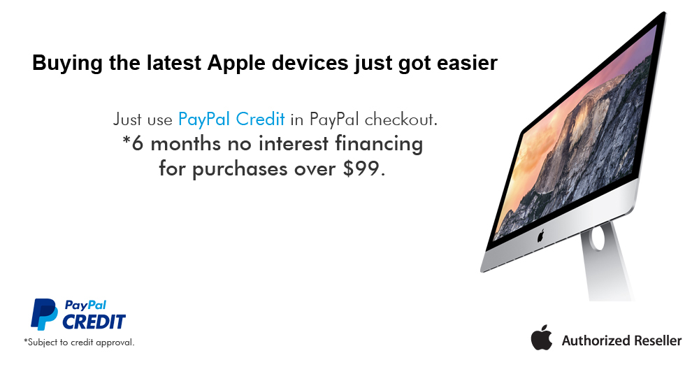 Buy Apple Mac on credit - monthly payments - 6 months same as cash