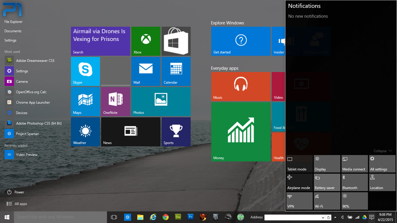 how to put preview windows in one window