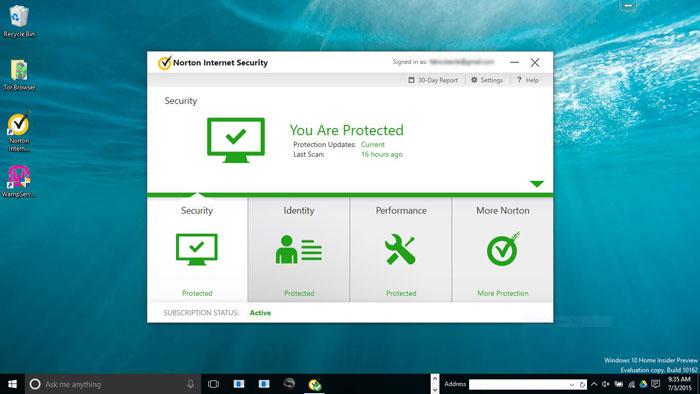 Can't get rid of splash screen re windows 10 | norton community.