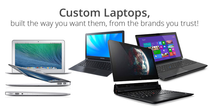 Order Custom Laptops from PortableOne - the custom laptop experts
