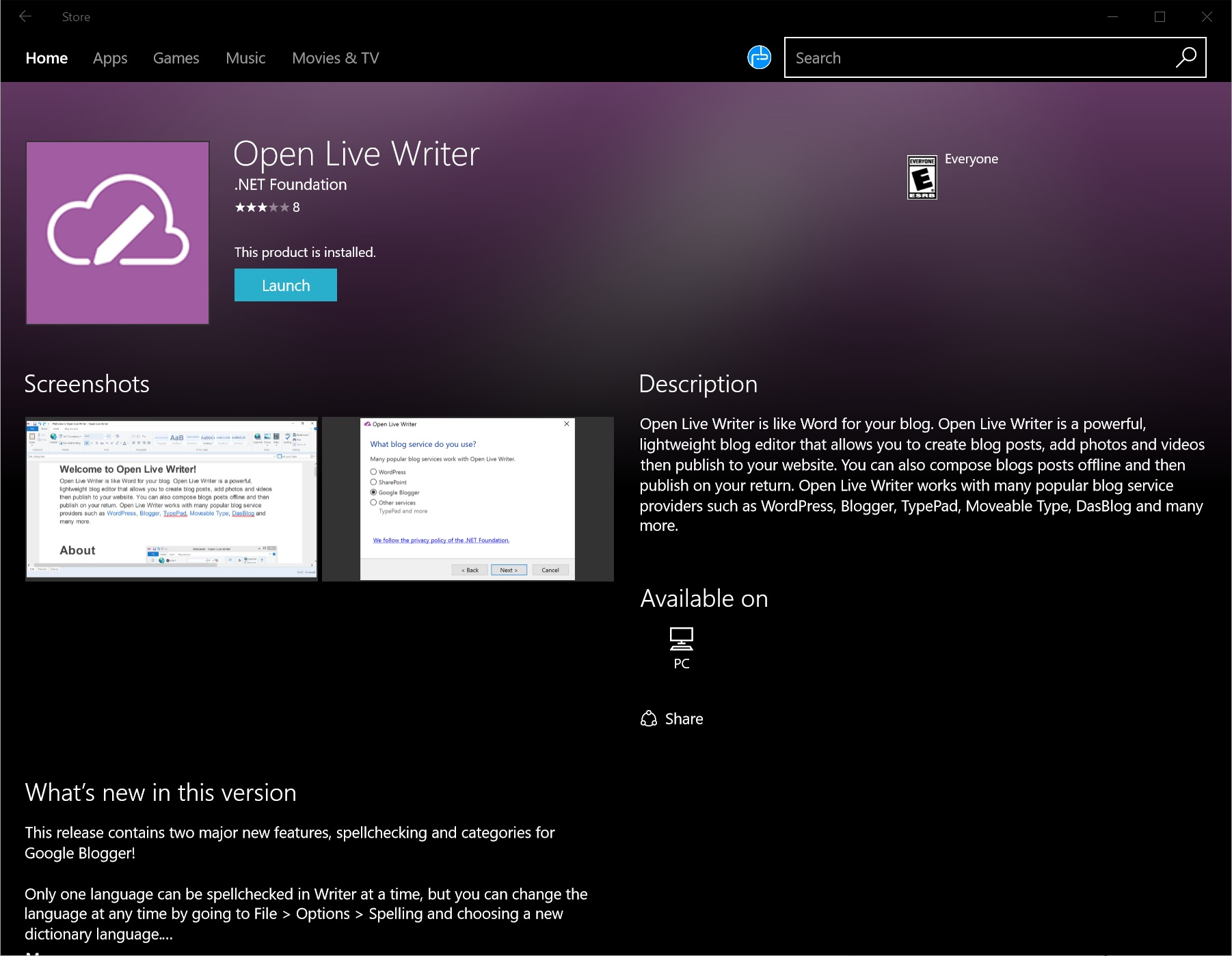 Windows Live Writer is making a comeback to the Windows Store