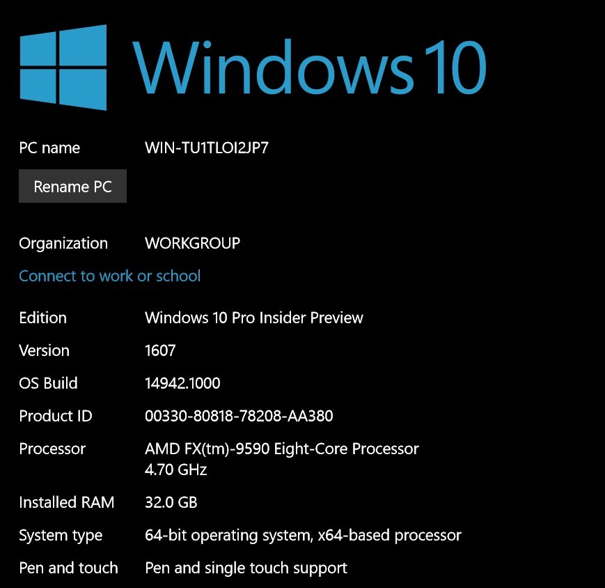 Microsoft Windows 10 Preview Build 14942: skip it if you like your antivirus suite on your Windows PC