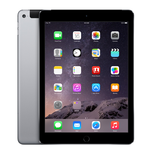 Apple iPad Air 2 Wi-Fi + Cellular for SIM 64GB Space Gray MH2M2LL/A