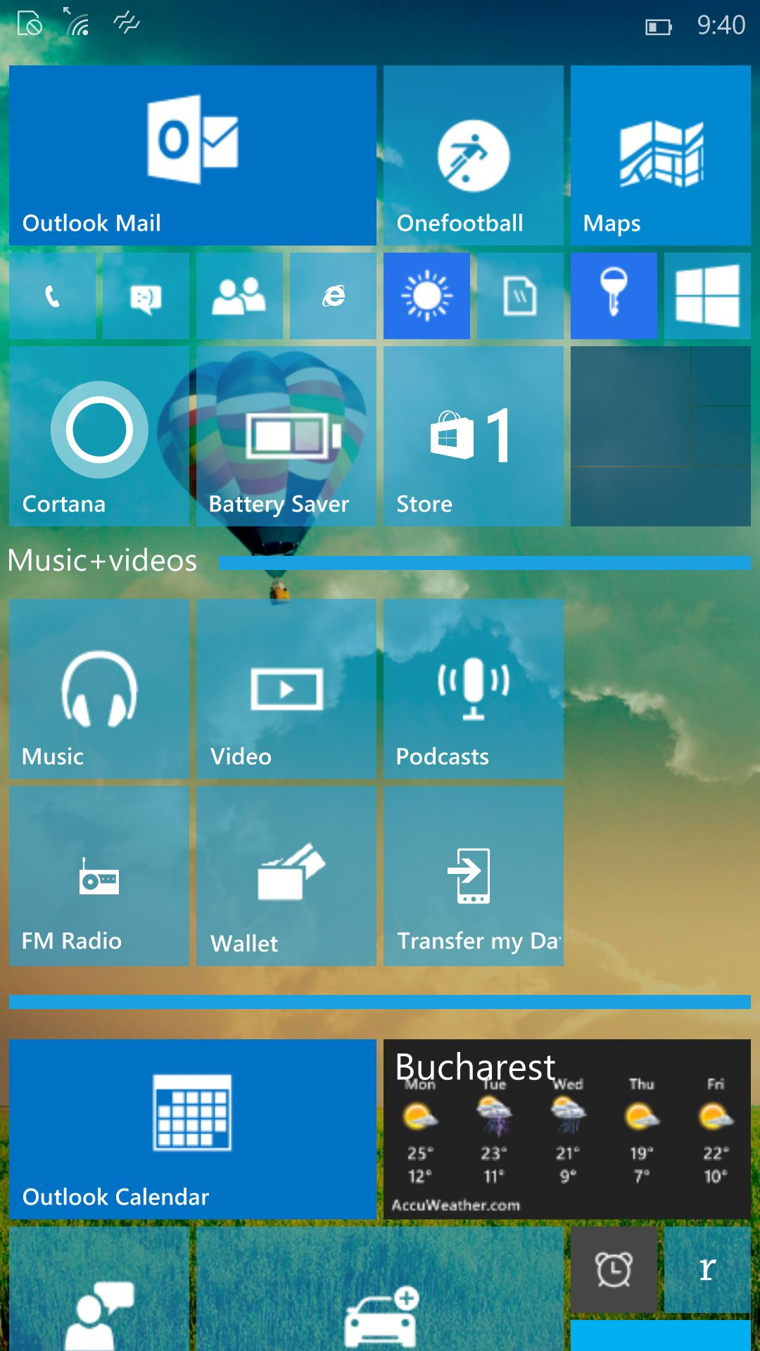 Portable app with a start menu