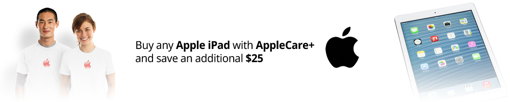 Apple iPad Air 2 and AppleCare+ Bundle sale. Save $25 when you buy both