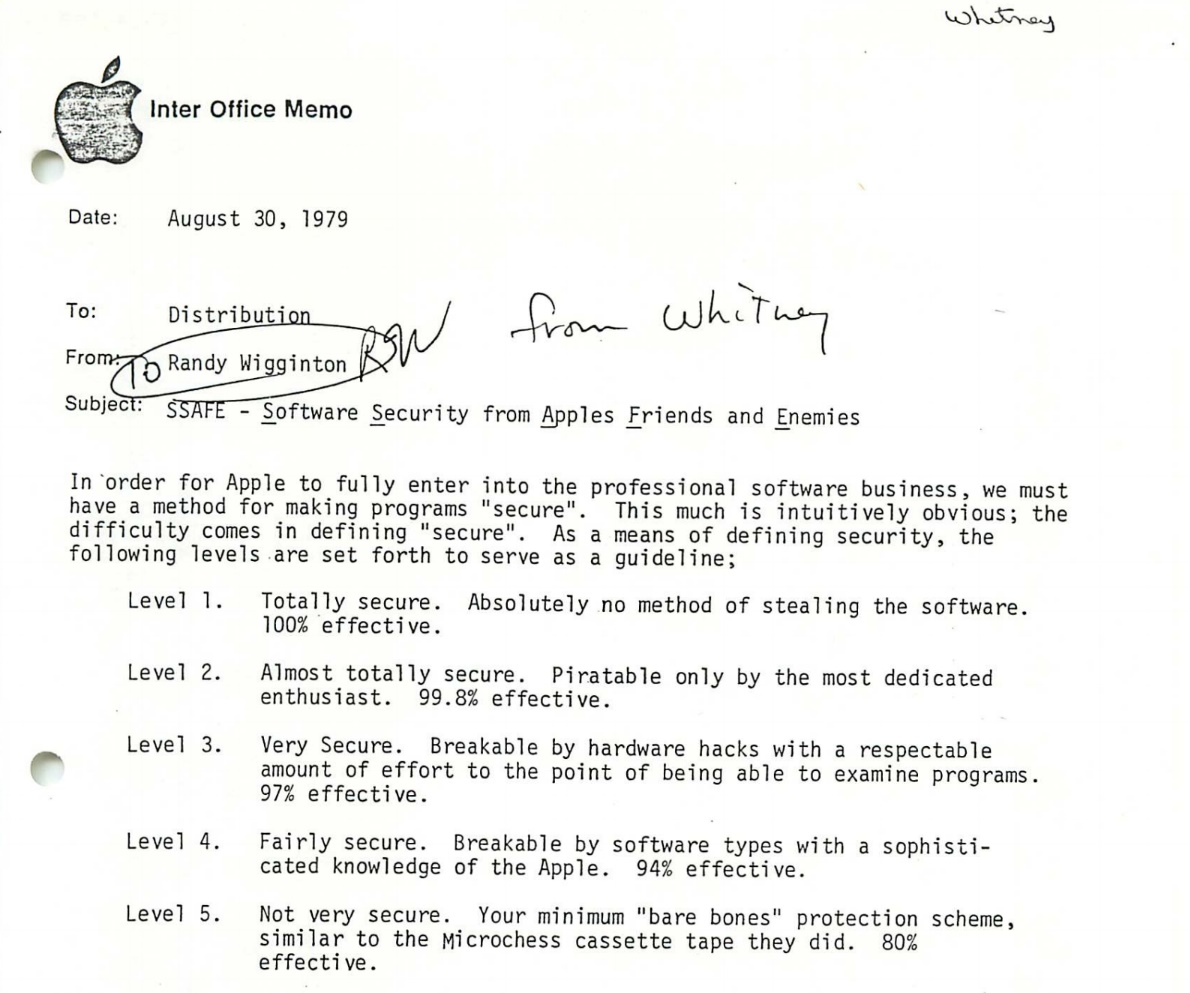 historical apple internal memos about future of macs from late 1970s found at goodwill