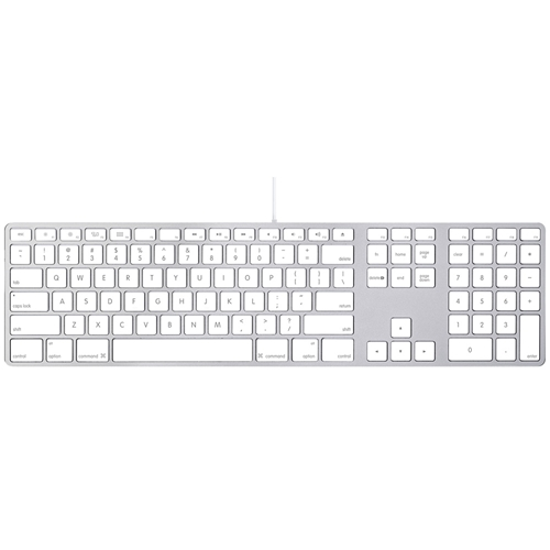 apple wired keyboard with numeric keypad mb110ll b. Black Bedroom Furniture Sets. Home Design Ideas