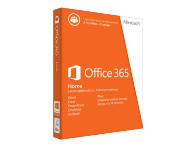 Microsoft Office 365 Home Box Pack 1 Year 6GQ-00241